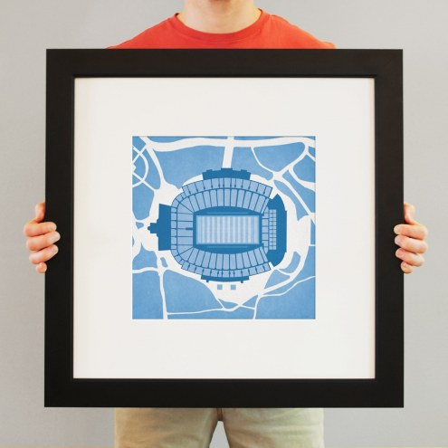 North Carolina Tar Heels Kenan Memorial Stadium Print
