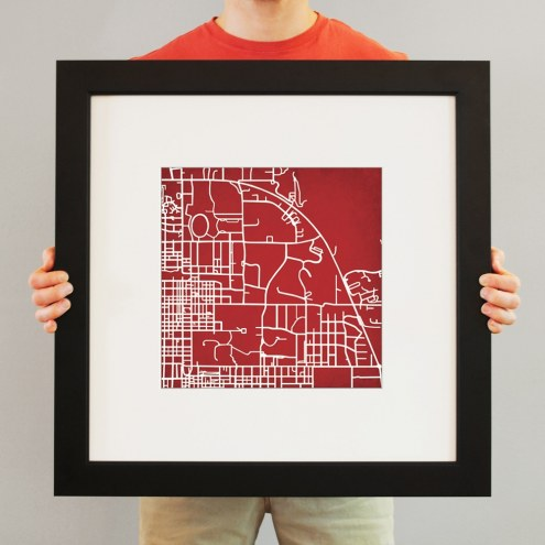 Indiana Hoosiers Campus Map Print