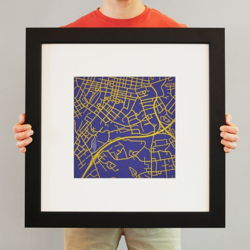 James Madison Dukes Campus Map Print