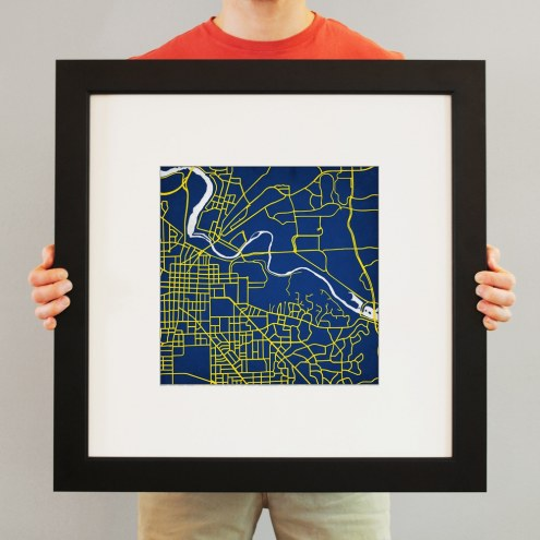 Michigan Wolverines Campus Map Print