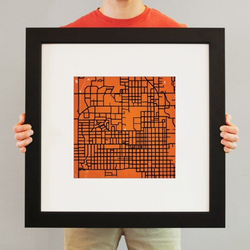 Oklahoma State Cowboys Campus Map Print