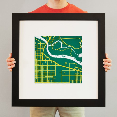Oregon Ducks Campus Map Print