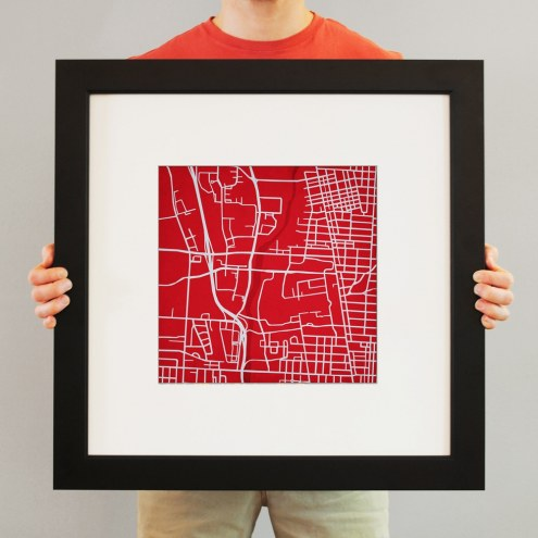 Ohio State Buckeyes Campus Map Print
