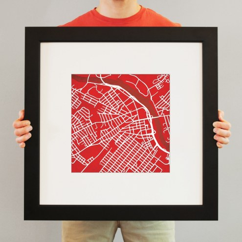 Rutgers Scarlet Knights Campus Map Print