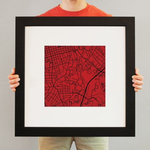 Georgia Bulldogs Campus Map Print