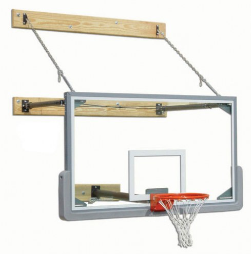 Gared Three-Point Stationary Wall Mount Basketball Hoop