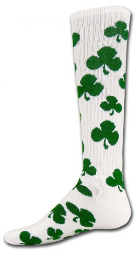 Red Lion Shamrock Adult Socks - Sock Size 9-11