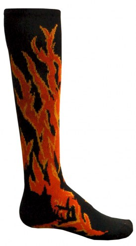 Red Lion Flame Adult Socks - Sock Size 9-11