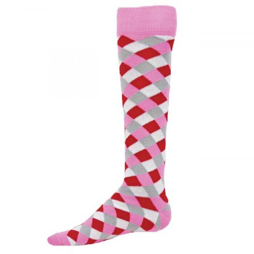 Red Lion Gingham Knee High Socks