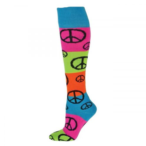 Red Lion Rainbow Peace Knee High Socks