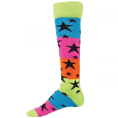 Red Lion Rainbow Stars Knee High Socks