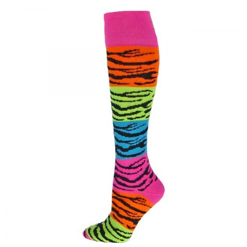 Red Lion Rainbow Tiger Over the Calf Socks
