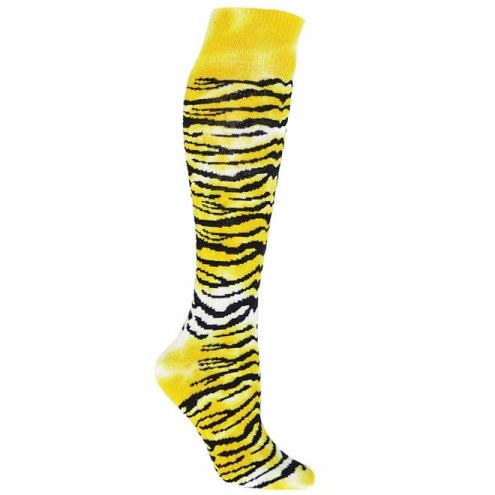 Red Lion Tie Dye Tiger Over the Calf Socks