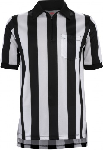 "Adams Football Officials Short Sleeve Shirt with 2"" Stripe"