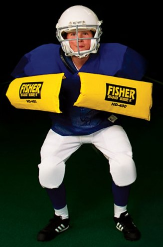 Fisher HD400JR Junior Curved Forearm Football Shield
