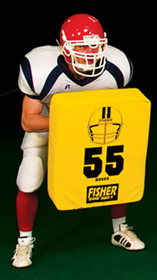 "Fisher HD505 25"" x 20"" Rectangular Football Body Shield - On Clearance"