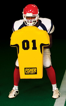 "Fisher HD700 29"" x 22"" Man Shaped Football Body Shield"