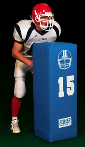 "Fisher Dual Purpose 46"" x 15"" Square Football Blocking Dummy"