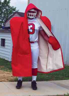 on sale b5dbf f5abd Fisher Adult Lined Sideline Cape