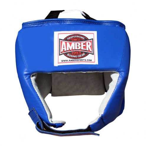 Amber Amateur Competition Boxing Headgear Without Cheek Protectors