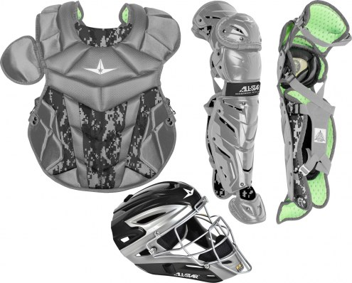 All Star System7 Axis Youth Camo Pro Catcher's Kit