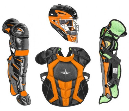 All Star System7 Axis NOCSAE Certified Two Tone Baseball Catcher's Gear Set - Ages 12-16