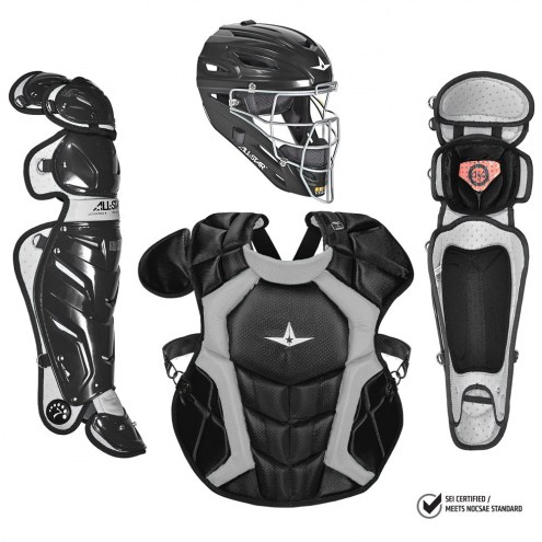 All Star System7 NOCSAE Certified Adult Pro Baseball Catcher's Kit