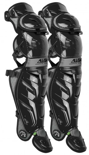 "All Star System Seven Axis Baseball Catcher's 16.5"" Leg Guards"