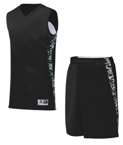 Augusta Youth Hook Shot Reversible Camo Custom Basketball Uniform