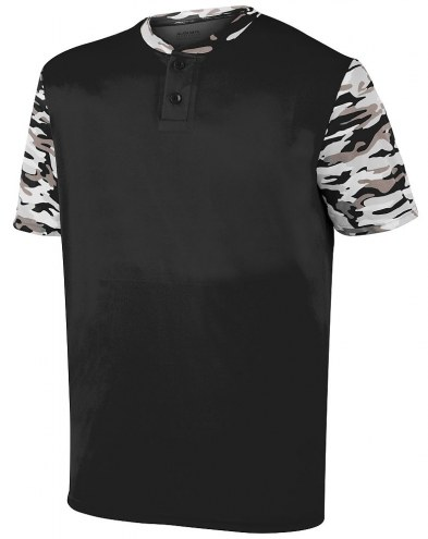 Augusta Pop Fly Youth Two Button Baseball Jersey