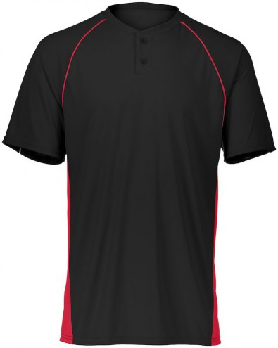 Augusta Limit Two Button Youth Custom Baseball Jersey
