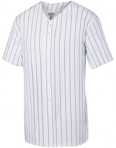 Augusta Adult Pinstripe Full Button Baseball Jersey
