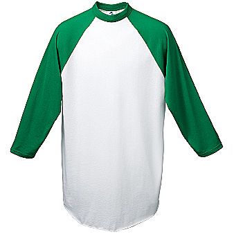 Augusta 3/4 sleeve Raglan Youth Custom Baseball Jersey