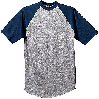 Augusta Short Sleeve Raglan Men's Custom Baseball Jersey
