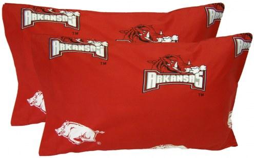 Arkansas Razorbacks Printed Pillowcase Set