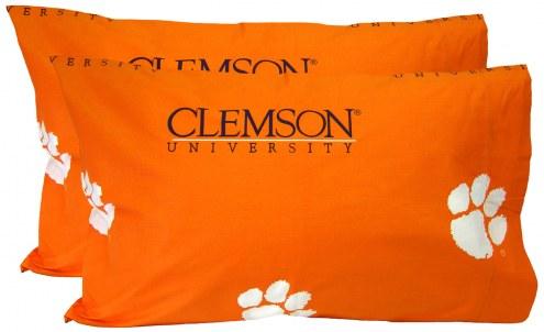 Clemson Tigers Printed Pillowcase Set
