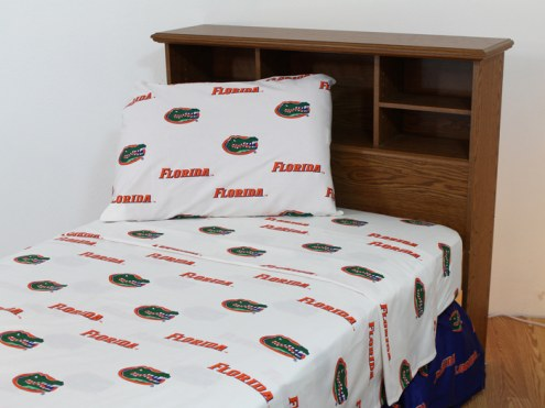 Florida Gators White Bed Sheets