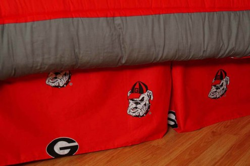 Georgia Bulldogs Bed Skirt