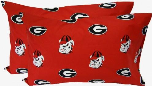 Georgia Bulldogs Printed Pillowcase Set