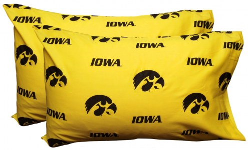 Iowa Hawkeyes Printed Pillowcase Set