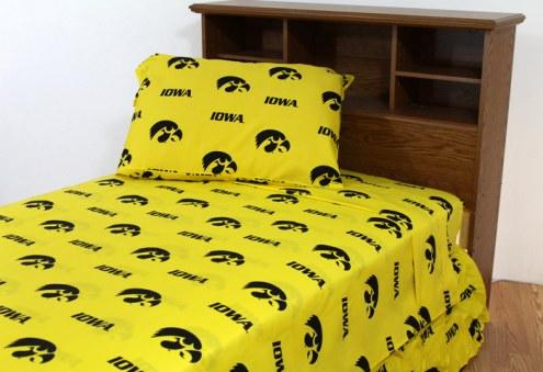 Iowa Hawkeyes Dark Bed Sheets