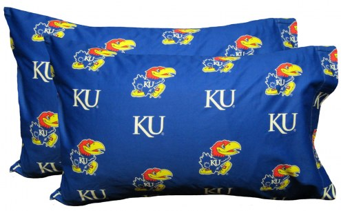 Kansas Jayhawks Printed Pillowcase Set