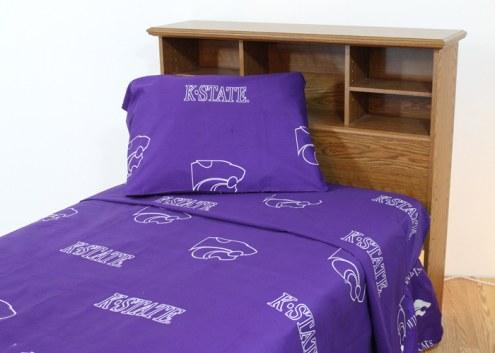 Kansas State Wildcats Dark Bed Sheets