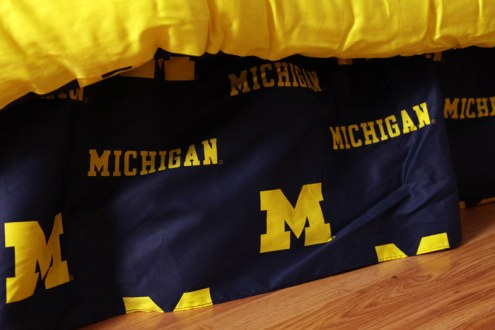 Michigan Wolverines Bed Skirt