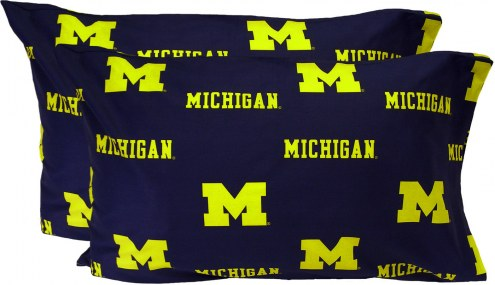 Michigan Wolverines Printed Pillowcase Set