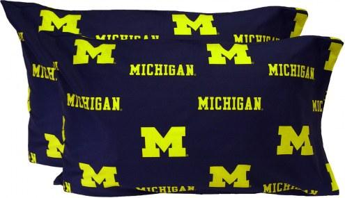 Michigan Wolverines Printed Pillowcase Set