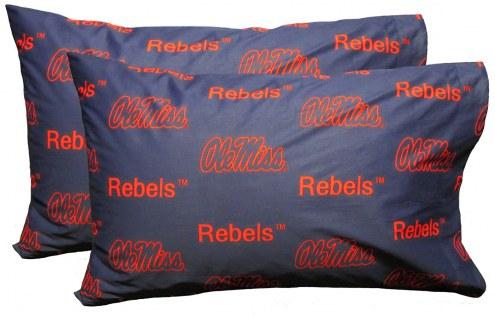 Mississippi Rebels Printed Pillowcase Set
