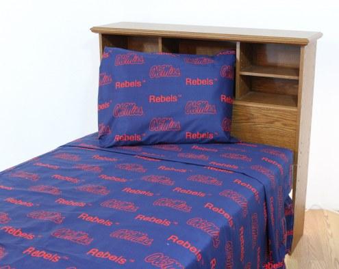 Mississippi Rebels Dark Bed Sheets