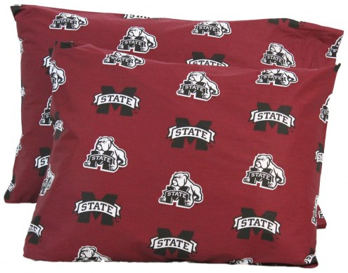 Mississippi State Bulldogs Printed Pillowcase Set