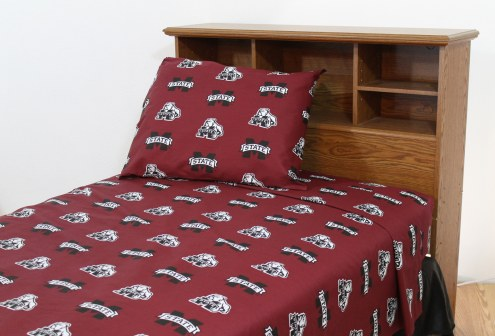 Mississippi State Bulldogs Dark Bed Sheets